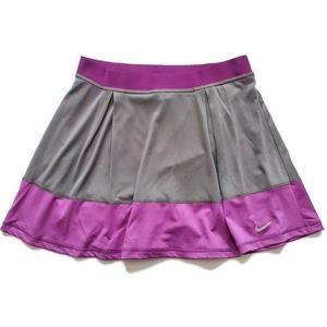 nwt Nike Dri-FIT Knit Skirt, Purple Gray L